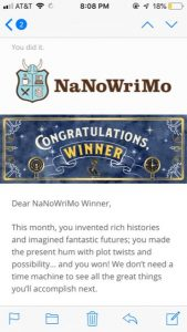 emailed badge from NaNo